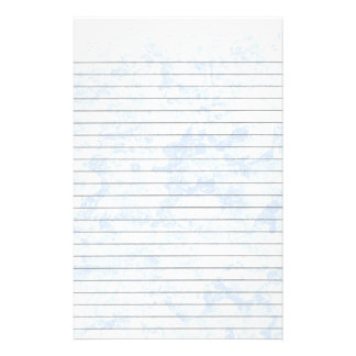 Blue Ice Lined Stationery