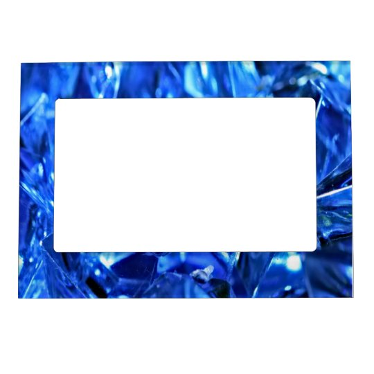 Blue ice magnetic photo frame