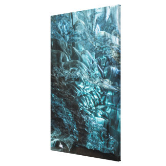Blue ice of an ice cave, Iceland Canvas Print