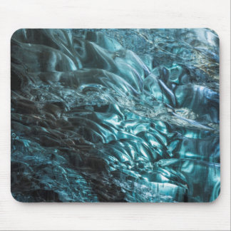 Blue ice of an ice cave, Iceland Mouse Pad