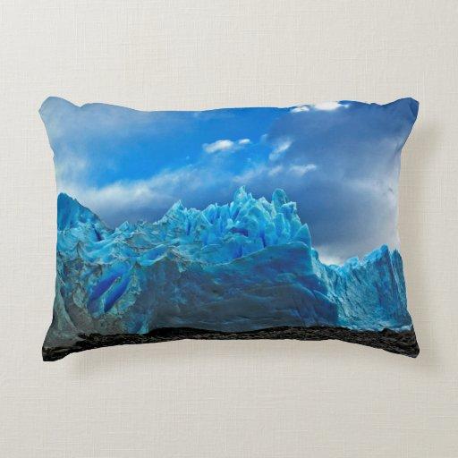 Ice Blue Throw Pillows : Blue Ice - Perito Moreno Decorative Pillow Zazzle