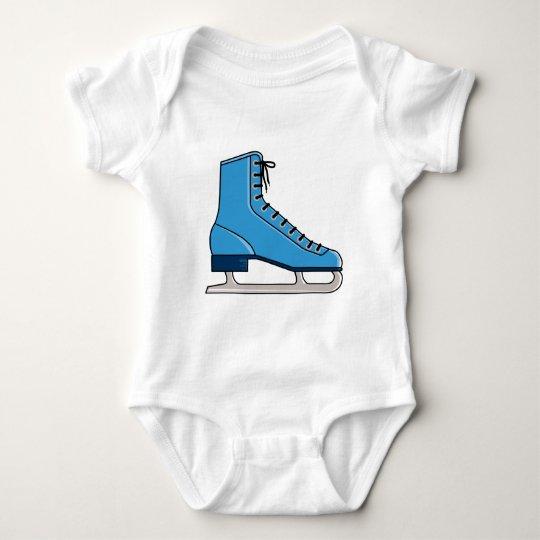 Blue Ice Skate Baby Bodysuit