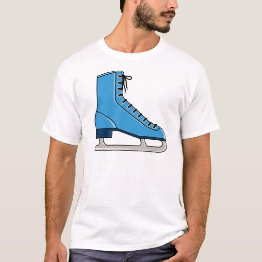 Blue Ice Skate T-Shirt