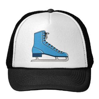 Blue Ice Skate Trucker Hat