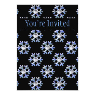 Blue Ice Snowflakes & Diamond Sparkle Card