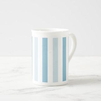 Blue Ice Stripes Tea Cup