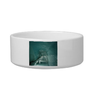 Blue ice tunnel cat bowls