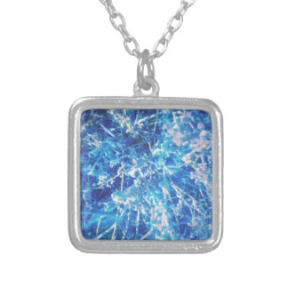 Blue Ice Virus Silver Plated Necklace
