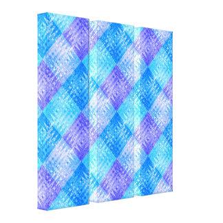 Blue Ice Water Bubbles Organic Flow Designer Art Canvas Print