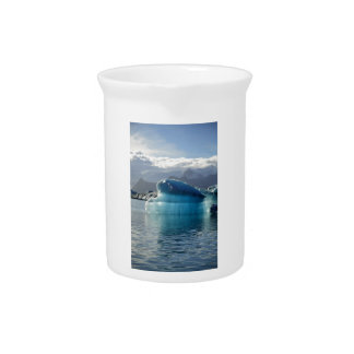 Blue iceberg drink pitcher