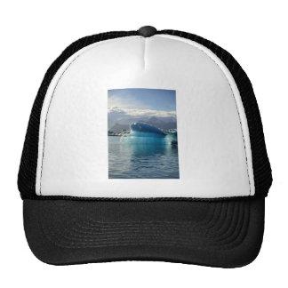 Blue iceberg mesh hat