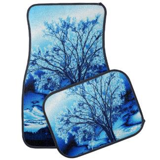 Blue Iced Tree of Life Car Mats Floor Mat
