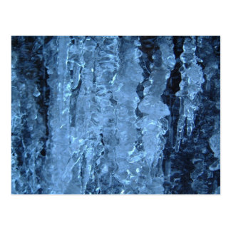 Blue icicles post cards