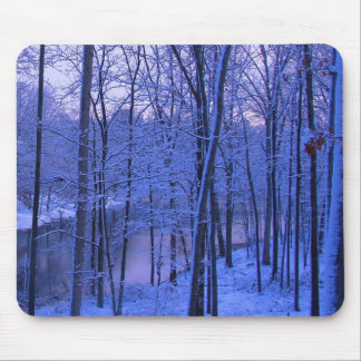Blue Icy Lake Mouse Pad