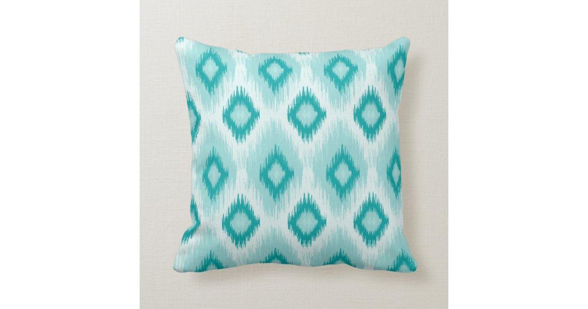 Blue Lumbar Throw Pillow : Blue iKat lumbar Throw Pillow Zazzle