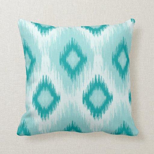 Blue iKat lumbar Throw Pillow Zazzle