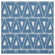 Blue Ikat Triangles pattern fabric