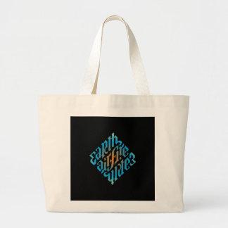 Blue Illuminati Symbol Jumbo Tote Bag