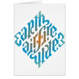 Blue Illuminati Symbol Greeting Card