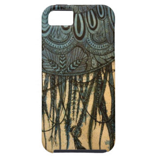Blue Illustrated Dreamcatcher iPhone5 Case iPhone 5 Case