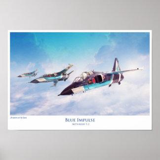 Blue Impulse Mitsubishi T-2 Poster