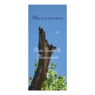 Blue in a once moon_bookmark buckslip rack card