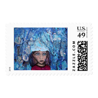 """Blue in the Rain"" Postage"