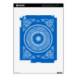 Blue Indian Mandala inspired pattern iPad 3 Decal