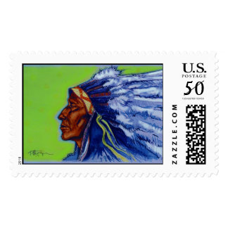 Blue Indian   Postage