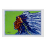 Blue Indian Print