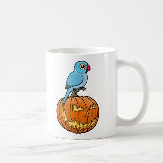 Blue Indian Ringneck Halloween Classic White Coffee Mug