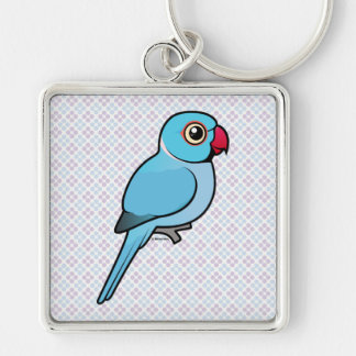 Blue Indian Ringneck Keychain