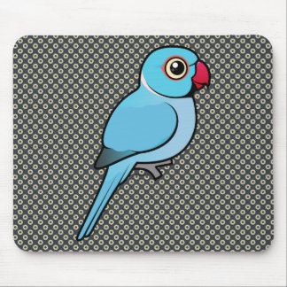 Blue Indian Ringneck Mouse Pad