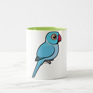 Blue Indian Ringneck Two-Tone Coffee Mug