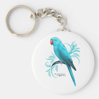 Blue Indian Ringneck Parrot Keychain