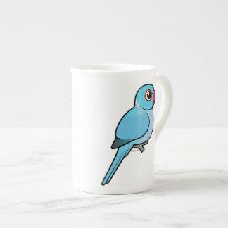 Blue Indian Ringneck Tea Cup