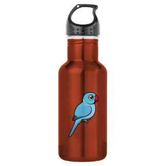 Blue Indian Ringneck Stainless Steel Water Bottle