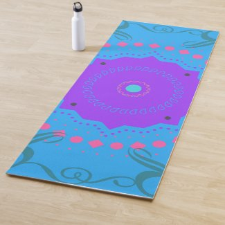 Blue Indie Yoga Mat
