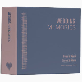 Blue Indigo and Woodrose Wedding Memories Binder
