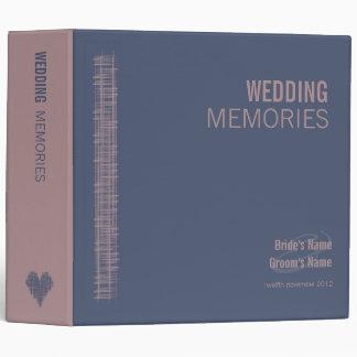 Blue Indigo and Woodrose Wedding Memories Binder