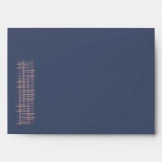 Blue Indigo hearts Card Envelope A7