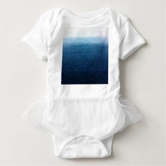 Blue Indigo Ombre Fade. Japanese Art! Baby Bodysuit