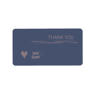Blue Indigo Thank You Gift Sticker Address Label