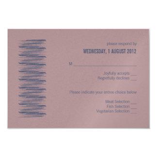 Blue Indigo & Woodrose RSVP Card