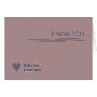 Blue Indigo & Woodrose Thank You Note Card