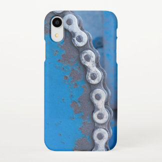 Blue Industrial Farm Gear with Rust Patina iPhone XR Case