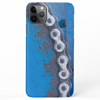 Blue Industrial Farm Gear with Rust Patina iPhone 11Pro Max Case