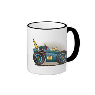 Blue Indy Race Car Mugs