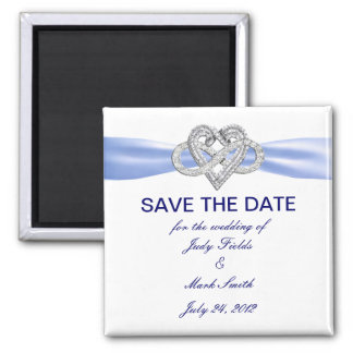 Blue Infinity Heart Save The Date Magnet Refrigerator Magnet