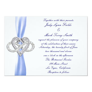 Blue Infinity Heart Wedding Invitation